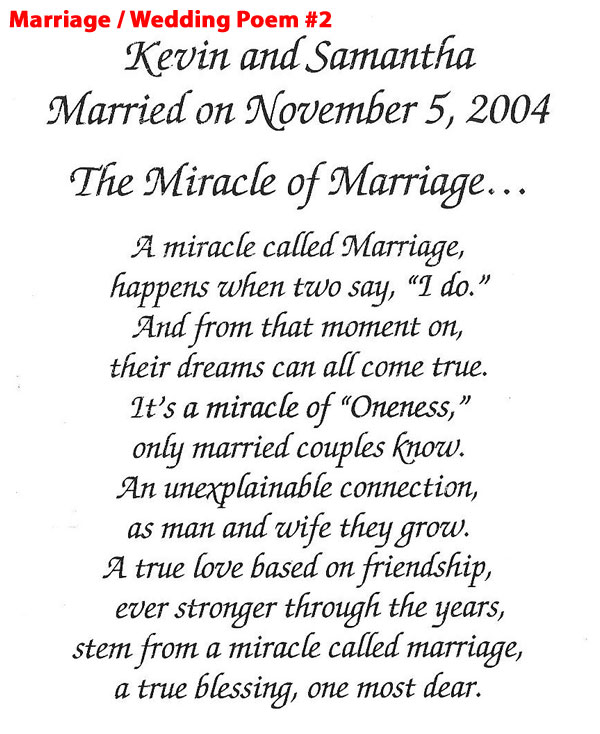 Marriage/Wedding Poem 2