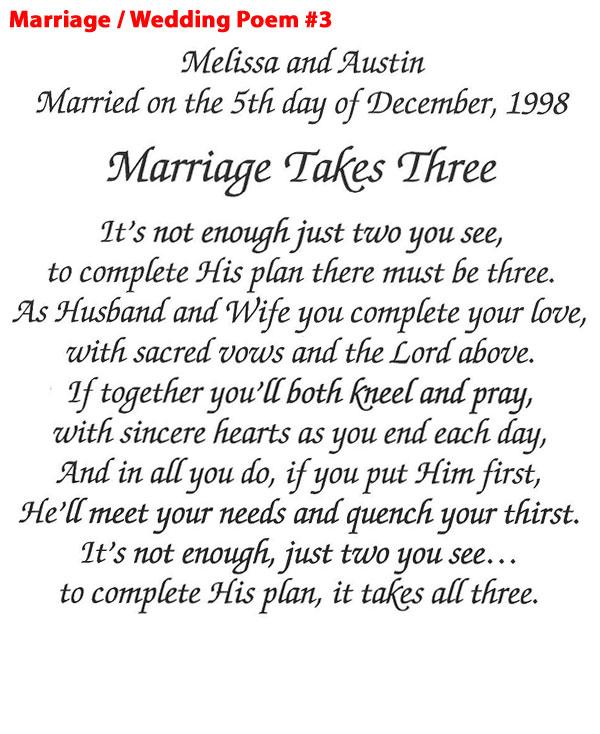 Marriage/Wedding Poem 3